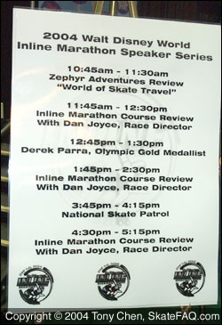 2004 Marathon Expo speaker schedule