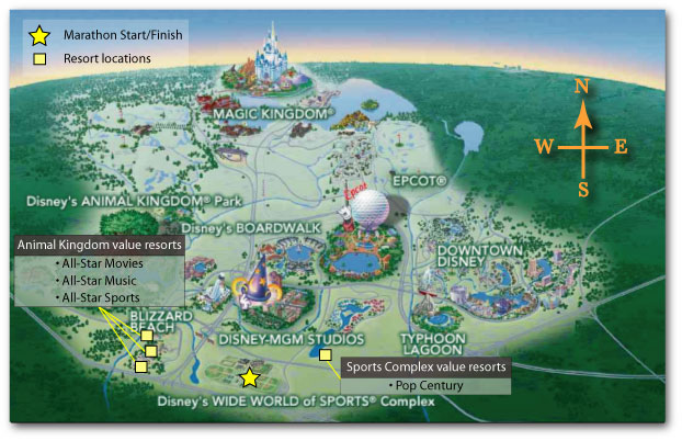 walt disney world map 2009. Walt Disney World Map - Animal